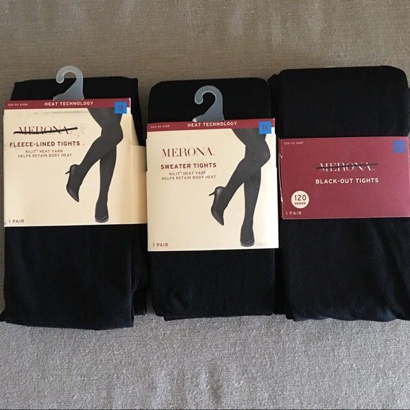 6491660c010 Lot of 3 Pairs Plus Size 1X Black Tights